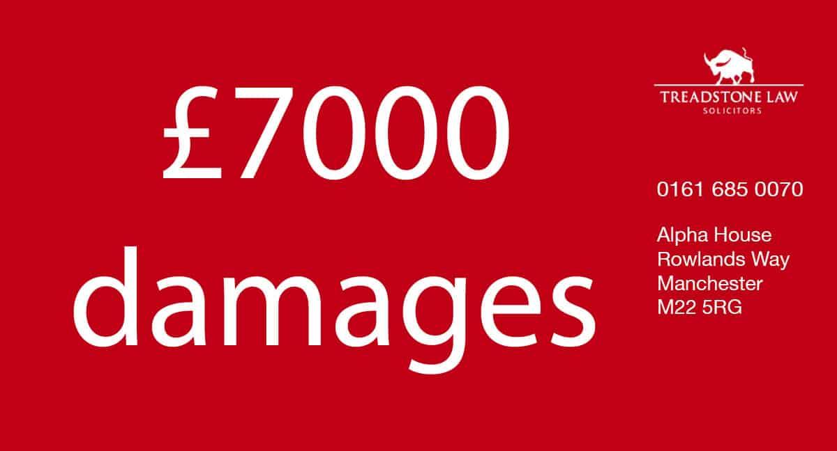 £7000 damages claim banner