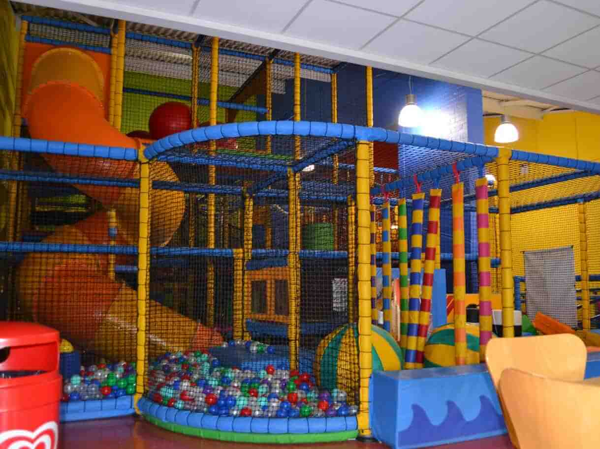 a soft play area