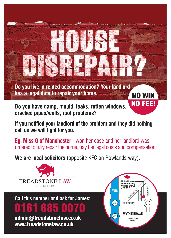 put in a house disrepair claim