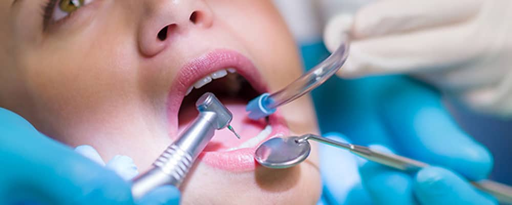 person receiving dental treatment